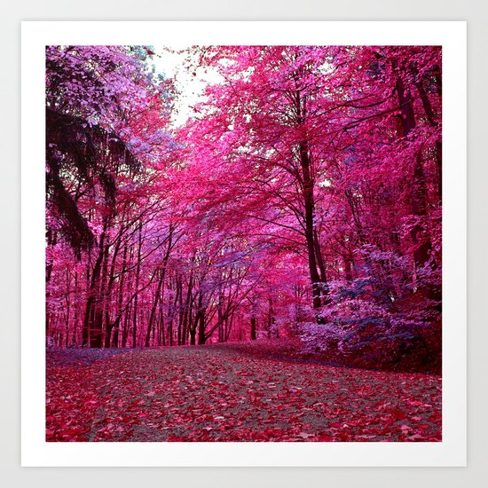 purple forest IV Art Print