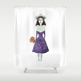 Universe in Lady Shower Curtain