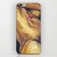 musa iPhone & iPod Skins featuring Musa en amarillo by Ziuhtei Erdmann