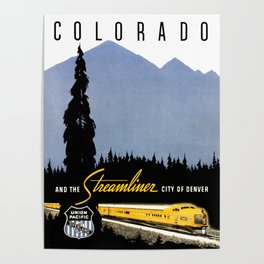 Union Pacific Train poster 1936 - Retouched Version Poster