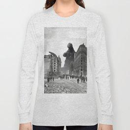 Old Time Godzilla in San Francisco Long Sleeve T-shirt