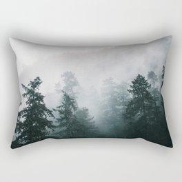 Forest Fog X Rectangular Pillow