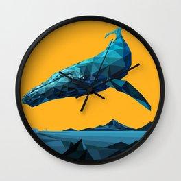 Leviathan (Blue - Orange) Wall Clock