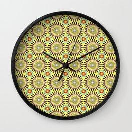 Groovy Yellow 1970s Vintage Retro Wall Clock