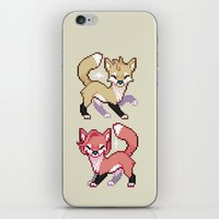 mulder iPhone & iPod Skins featuring Mulder and Scully Foxes by Sutexii