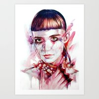 grimes Art Prints featuring grimes by beart24