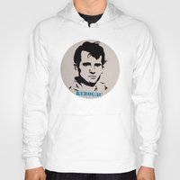 kerouac Hoodies featuring Jack Kerouac Record Painting by All Surfaces Design