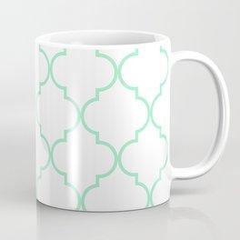 Quatrefoil - mint green Coffee Mug