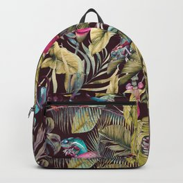 Fantasy in the nocturnal tropical jungle Backpack