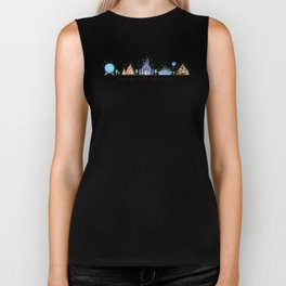 Meet me at my Happy Place Theme Park Skyline Biker Tank