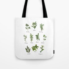 HERBS on white Tote Bag