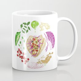 Fish Taco Diagram Coffee Mug