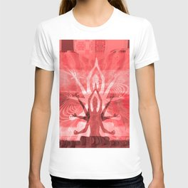 Goddess Kali Red Sunset Print T-shirt
