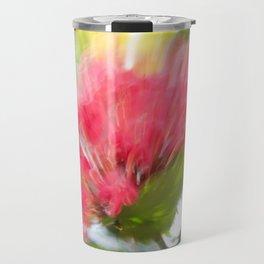 Flower Burst - Electric Magenta Travel Mug