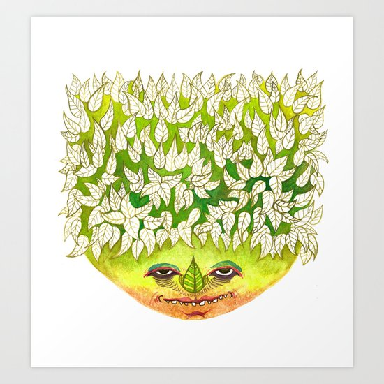 Majestic Leaf Art Print