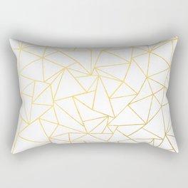 Ab Outline White Gold Rectangular Pillow