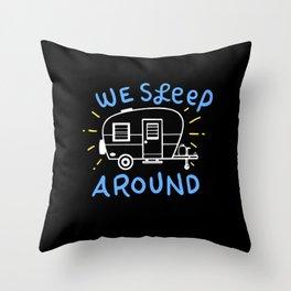 Camping Caravan Gifts Throw Pillow