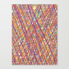 Scribble Crazy Canvas Print
