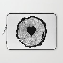 Heart Tree Rings Laptop Sleeve