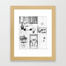 PORNO THEATER Framed Art Print
