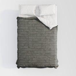 Grey Stone Bricks Wall Texture Comforters