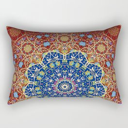 Woven Star in Blue and Red Rectangular Pillow
