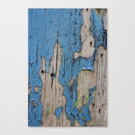 Blue Weathered Wood Canvas Print
