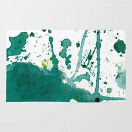 emerald green splash Rug