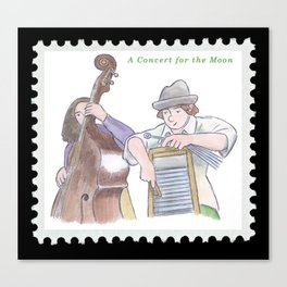 The Washboard Player Canvas Print