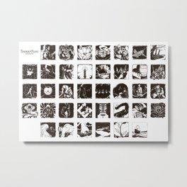 Tinder & Flint Westover Etchings Metal Print