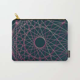 Red Threads in Blue Carry-All Pouch
