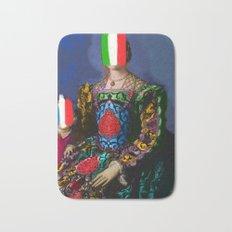 French Italian Pop Remix of Classical Painting of Bronzino Bath Mat