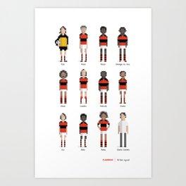 Flamengo - All-time squad Art Print