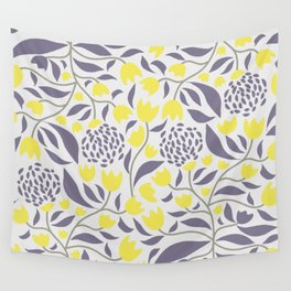 Yellow flowers field Wall Tapestry