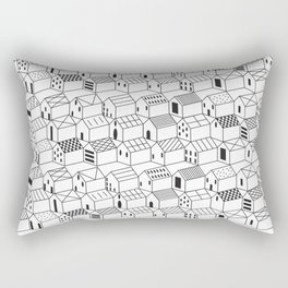 Architect and Little Houses Rectangular Pillow
