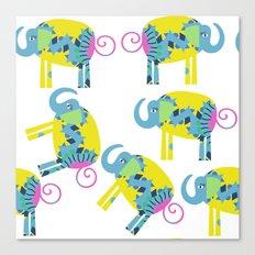 Elephants 4X Canvas Print