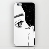contact iPhone & iPod Skins featuring Contact by Henn Kim