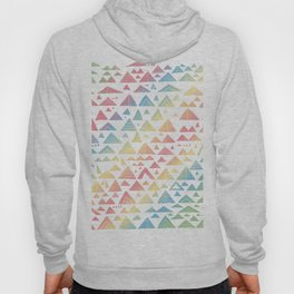 mountains, low hills, tents, trees rainbow Hoody
