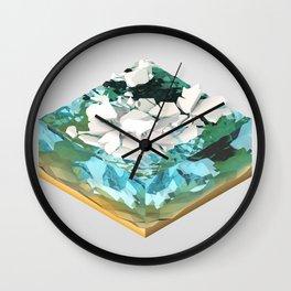 Low Poly Artic Scenes - Polar Bear (Isometric) Wall Clock