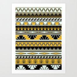 art deco stripes - honey Art Print
