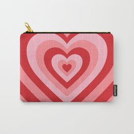 70s psychedelic pink heart Carry-All Pouch