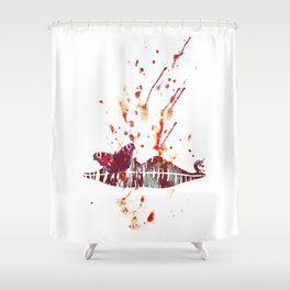 Bloody Lips Shower Curtain