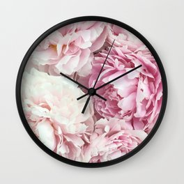 A bunch of peonies Wall Clock