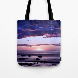 Coastal Sunset Sainte-Anne-Des-Monts Tote Bag