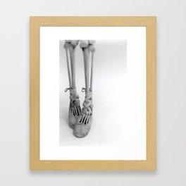 Skeleton Pointe Framed Art Print