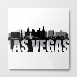 Las Vegas Silhouette Skyline Metal Print