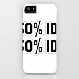 50/50 iPhone Case