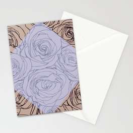 Art Nouveau Rose Stationery Cards