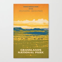 Grasslands National Park Poster Canvas Print