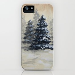 Winter in the Pines iPhone Case